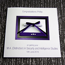 Product shot for: Oxford - Handmade Graduation Card