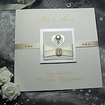 Product shot for: Pearl - Handmade Engagement Card