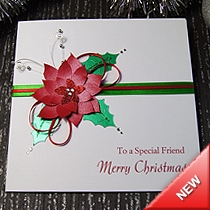 Product shot for: Poinsettia - Handmade Christmas Card