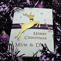 Product shot for: Prancer - Handmade Christmas Card