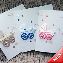 Product shot for: Precious - Handmade New Baby Card