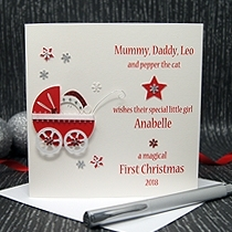 Product shot for: A Precious Christmas - Baby's First Christmas Card