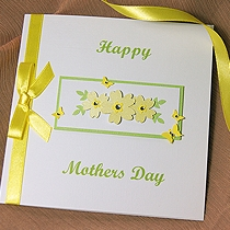 Product shot for: Primrose - Handmade Mothers Day Card