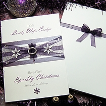 Product shot for: Winter's Kiss - Handmade Luxury Christmas Card