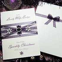 Product shot for: Winter's Kiss - Handmade Luxury Christmas Card