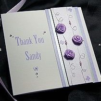 Product shot for: Rosa - Handmade Thank You Card