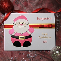Product shot for: Santa - Handmade Babies 1st Christmas Card