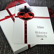 Product shot for: Scarlett - Luxury Handmade Valentines Card