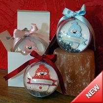 Product shot for: Snowman - Baby's 1st Christmas Bauble
