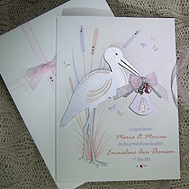 Product shot for: Special Delivery - Luxury Handmade New Baby Card