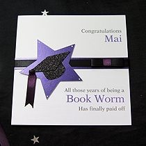 Product shot for: Star Achievement - Handmade Graduation Card