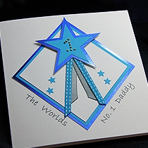 Product shot for: Star Dad - Handmade Fathers Day Card