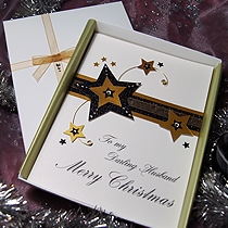 Product shot for: Stardust - Luxury Handmade Christmas Card