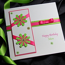 Product shot for: Tahiti - Handmade Birthday Card