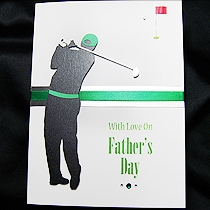 Product shot for: The Golfer - Handmade Fathers Day Card