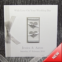 Product shot for: Two Hearts - Handmade Wedding Card