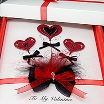 Product shot for: Valentine Bouquet - Luxury Valentine Card