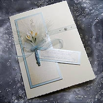 Product shot for: Wedding Bouquet - Handmade Wedding Card