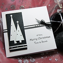Product shot for: Winters Spruce - Handmade Christmas Card