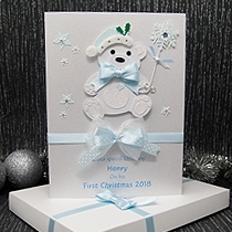 Product shot for: Christmas Bear - Luxury Baby's 1st Christmas Card