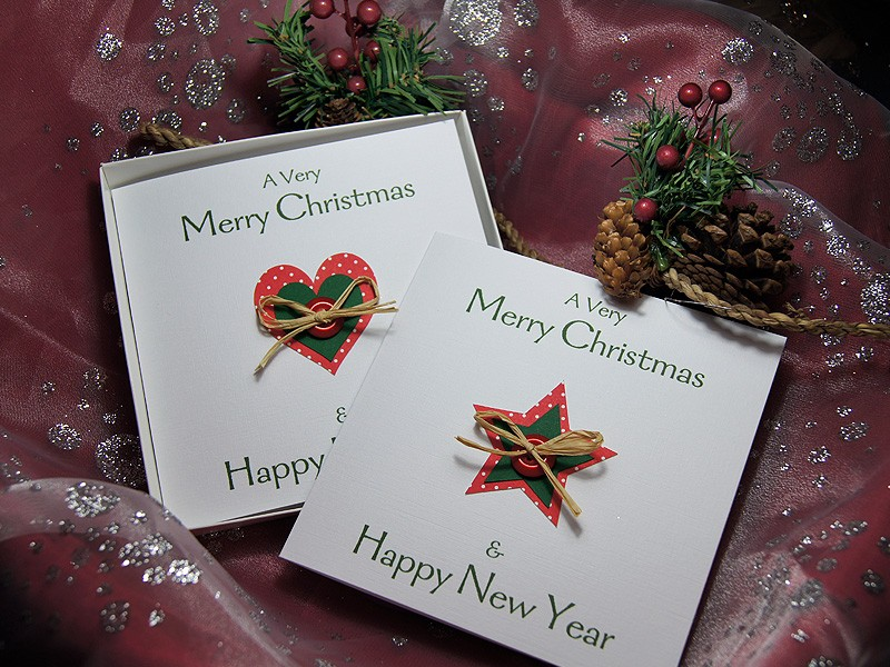 Country Christmas Handmade Christmas Card Pack