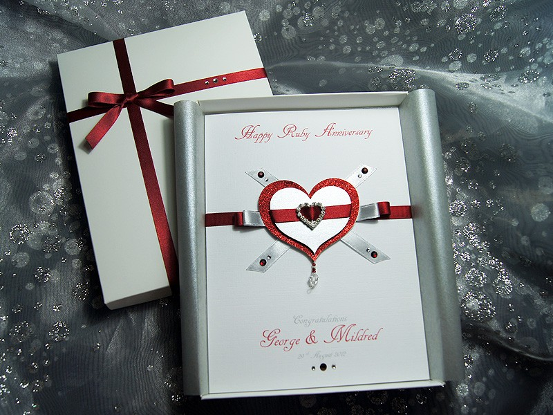 Personalised handmade anniversary cards looneylizardcreations