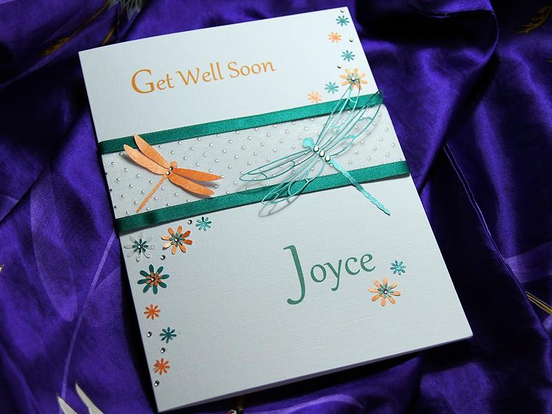jewel handmade get well soon card
