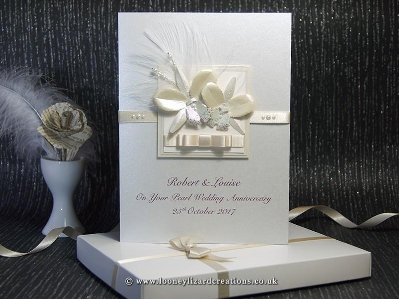 Kirika handmade luxury anniversary card