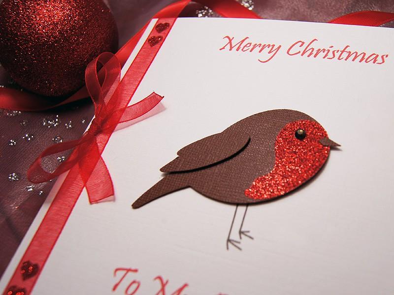 Fabulous Lil Robin Handmade Christmas Card Funny Birthday Cards Online Ioscodamsfinfo