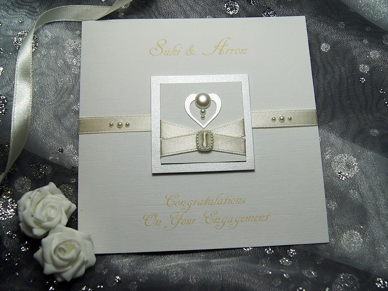 Pearl - Handmade Engagement Card