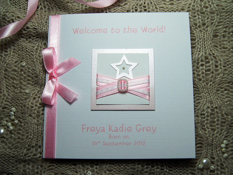 Little Star Handmade New Baby Card