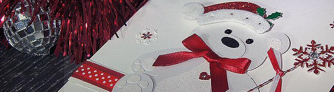 Christmas Bear card for a first christmas