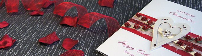 Luxury romantic valentines cards featuring heart, roses