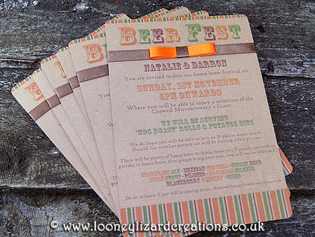 Beer Festival party invitations